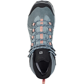 Salomon Ellipse 2 Mid LTR GTX Chaussures Femme, lead/stormy weather/coral almond